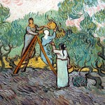 A detail showing Van Gogh's brushstrokes.
