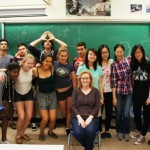 Almost the whole class on the last day!