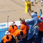 Aruba fans at beach volleyball