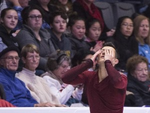 Canada's Patrick Chan performs his free program in the men's competition at Skate Canada International in Regina on Saturday, October 28, 2017. THE CANADIAN PRESS/Paul Chiasson ORG XMIT: PCH215
