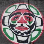 Indigenous mural at Ogden Point breakwater.