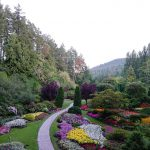 The stunning view from atop the sunken garden, built in a former quarry.