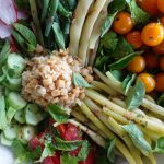 This was vegan salad nicoise minus the olives (Val doesn't like them).